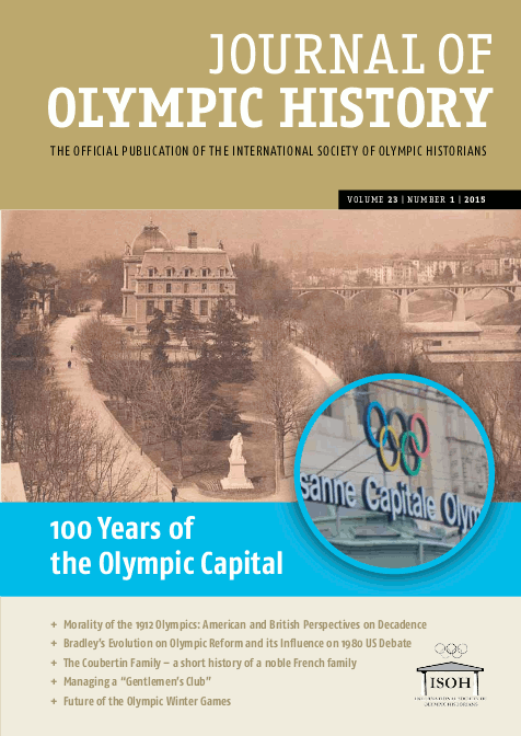 Cover Journal of Olympic History